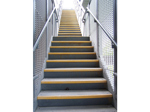 Fiberglass Reinforced Plastic Slip Resistant Stair Tread Cover Architectural and Commercial