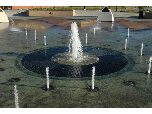 Fiberglass Reinforced Plastic, Pultruded Fountain Grating Dark Grey Architectural and Commercial