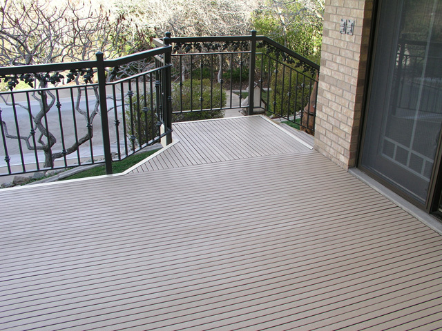 Fiberglass Reinforced Plastic Pultruded Deck Grating Balcony Beige Architectural and Commercial