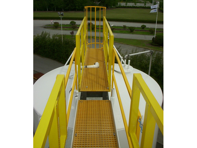 G R P Molded Grating and Pultruded Railing in Chemical Plant